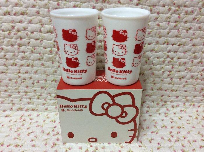 Sanrio hello kitty 大臉茶杯組《日本製.2011年商品》收藏特價出清