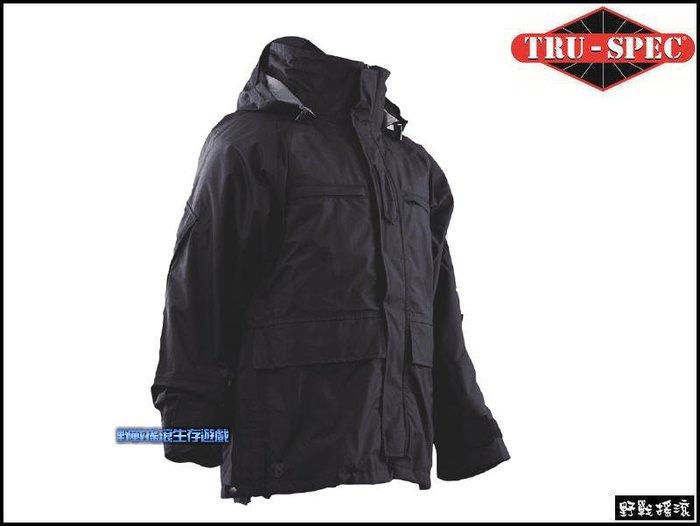【野戰搖滾-生存遊戲】美國 TRU-SPEC 執法者防水風衣~含保暖內裡【黑色】大衣勤務風衣防寒外套雨衣