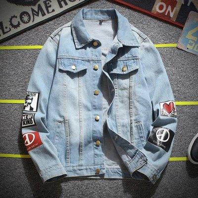 男士牛仔外套韓版潮流修身帥氣夾克學生休閒褂子衣服