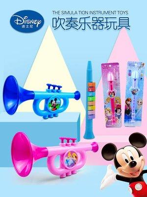迪士尼兒童小喇叭寶寶吹奏樂器豎笛薩克斯口琴口風琴口哨音樂玩具