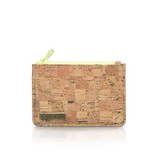 C'est Si Bon|【現貨。免運】手感軟木零錢包/名片夾/票卡夾-經典格紋II 禮品 盒裝