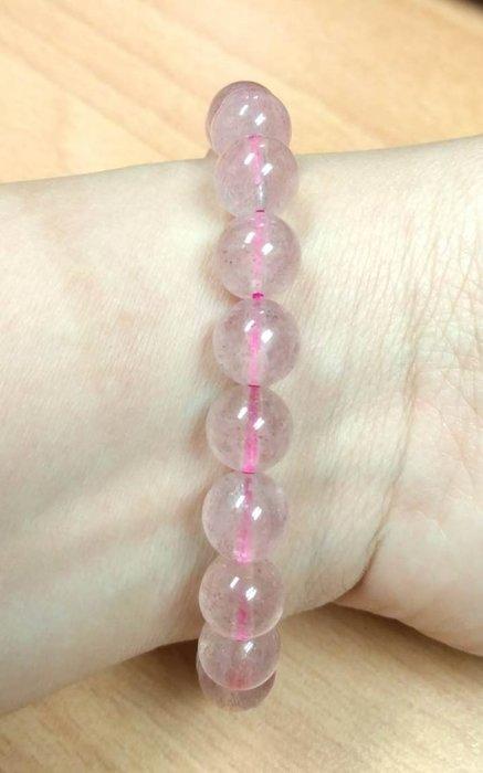 天然草莓晶手珠~10 mm ~約21顆