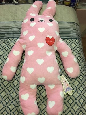 粉紅Flan兔大公仔(全新,購自日本)