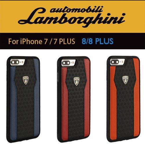 藍寶堅尼Lamborghini 授權iPhone7/8/7P/8P頂級真皮蜂巢格紋手機殼DUCATI法拉利