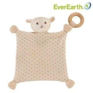 *╮叮噹玩具坊╭*德國EverEarth 小羊安撫方巾-有機棉(歡樂兒童節特價中)