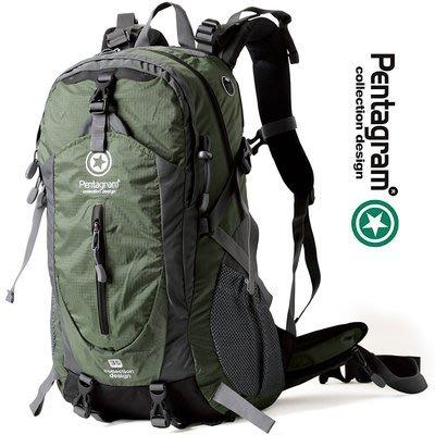 正品 Pentagram 五角星 35L防潑水登山包/雙肩騎行背包PM02新台幣;958元