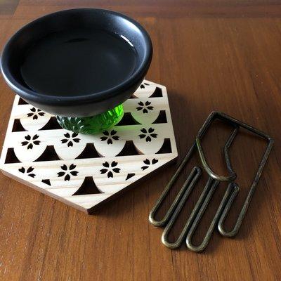 日本檜木製作的六角杯墊 日本製 生日 禮物