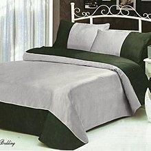 【芃云生活二館】頂級絲緞雙色款~加大雙人床包被套四件組~柔軟不起皺