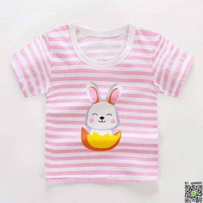 短袖 夏季寶寶短袖T恤棉質嬰兒上衣幼兒童短袖女童打底半袖衫男童夏裝 15款隨機發