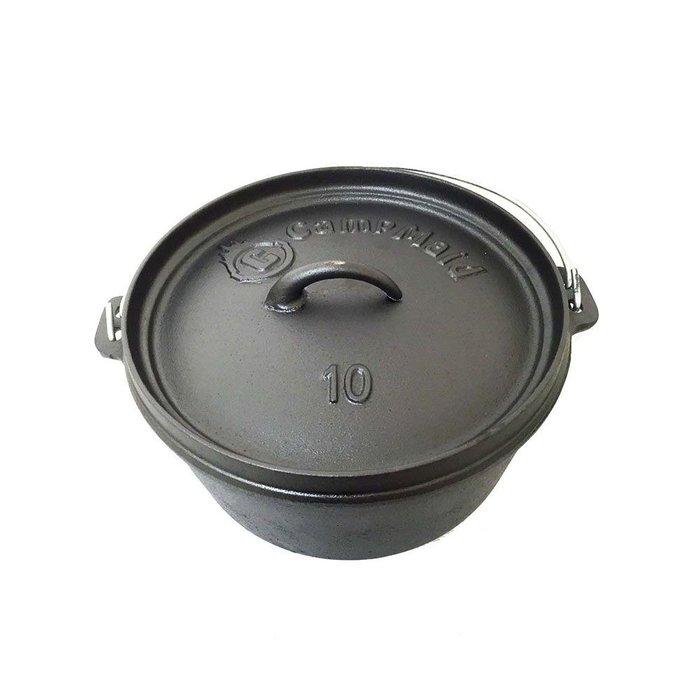 美國CampMaid Dutch Oven平底/有腳 12吋鑄鐵鍋