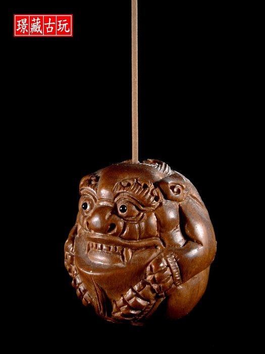 ﹣﹦≡|璟藏古玩|硬木雕木獅香插座∥(直購價,不設底價,只給第一標)∥≡﹦﹣