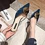 細跟高跟包頭半拖涼拖鞋女時尚外穿2019新款溫柔鞋仙女百搭女鞋 XN3808AMYP