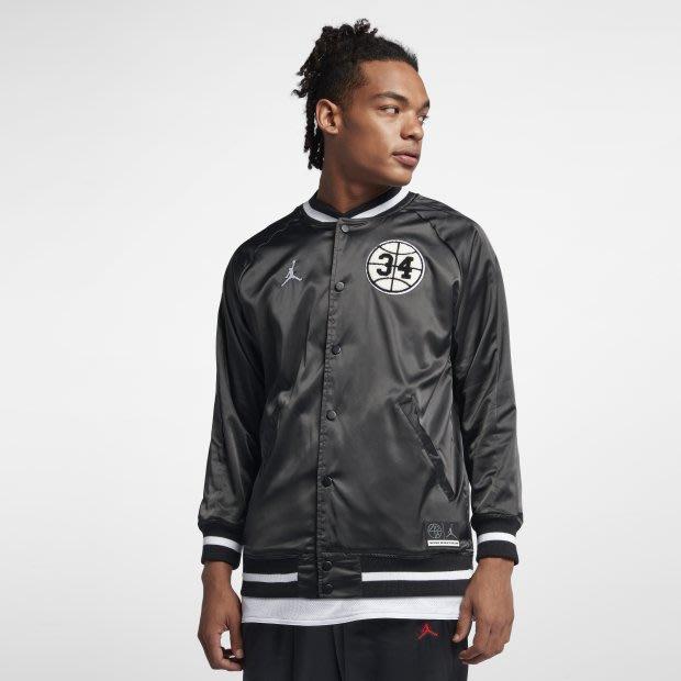 沃皮斯§Jordan Jacket 黑白 Logo 棒球外套 AR1170-010