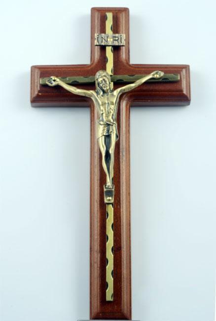 【弘慧堂】 墻掛木合金十字架苦像 耶穌基督 天主教聖物 聖母瑪利亞 驅魔辟邪
