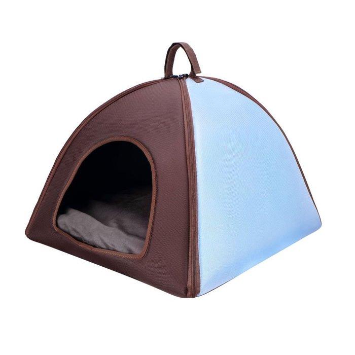 『IBIYAYA』FB1206-BB加大版寵物三角窩----藍色
