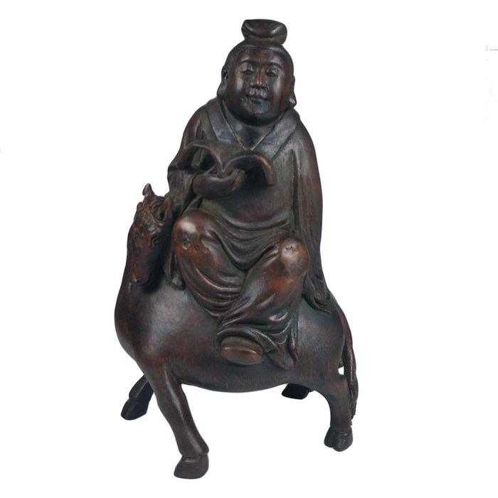 《博古珍藏》竹雕文人雅士擺件.523公克.早期收藏.老件文物精品.行家勿錯過.超值回饋