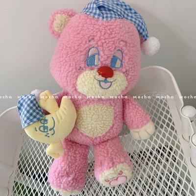 ins韓國網紅少女心可愛小熊月亮公仔毛絨玩具抱枕娃娃生日禮物女