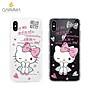 正版 Hello Kitty 空壓氣墊防摔水鑽保護軟殼-甜心款 iPhone X