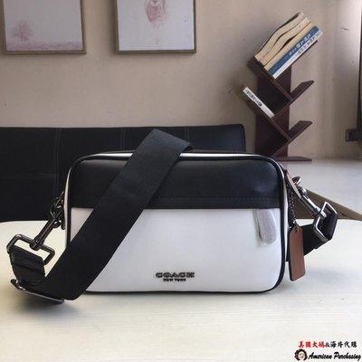 美國大媽代購COACH 寇馳 新款F234 拼色相機包 胸包 美國代購