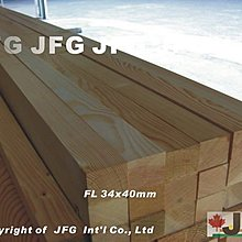 "JFG 原木建材 *【DF2x2""直角角材】 34 x 40mm 木工 木條 扶手 裝潢 桌椅 欄杆 南方松 木板 拼板"