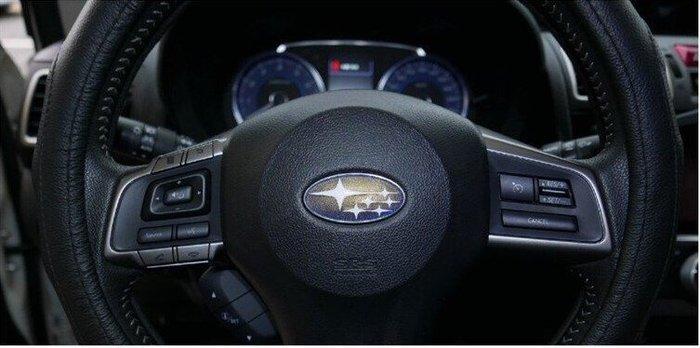 SUBARU速霸陸 FORESTER【方向盤LOGO標誌貼膜】寬度5.6公分皆適用 廠徽標誌貼紙 改裝零件 變色龍 藍星