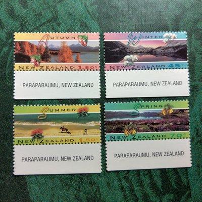 【大三元】紐澳郵票-052紐西蘭 夏天-新票6全1套帶邊紙-原膠上品