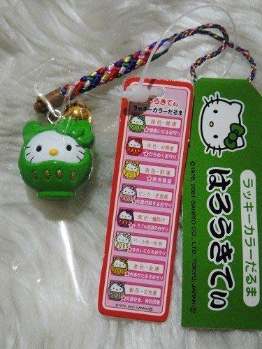 香草貓樂園 日本限定Hello Kitty幸運不倒翁手機吊飾附送防塵塞