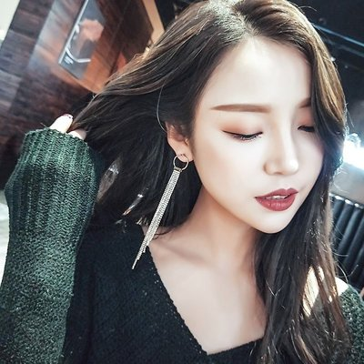 Qmi 韓國氣質圓圈耳釘個性潮人長款流...