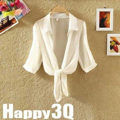休閒雪紡立領防曬衣冷氣小外套空調衫-白/灰/黑/紅/粉/藍【AAA0281】預購