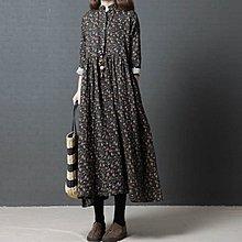 春裝新款韓版洋裝女裝時尚舒適碎花長款連身裙 潮C12
