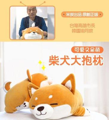 【Ray的雜貨鋪】米炭柴犬公仔趴趴狗毛絨玩具~捂手款~大抱枕可愛玩偶新年禮物韓國瑜同款