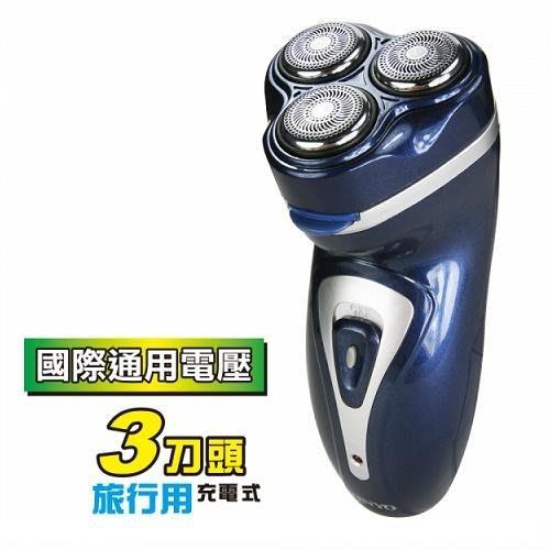 【KINYO】耐嘉~三刀頭國際通用電壓充電刮鬍刀(KS-323)精彩多芬D&J拍賣小舖