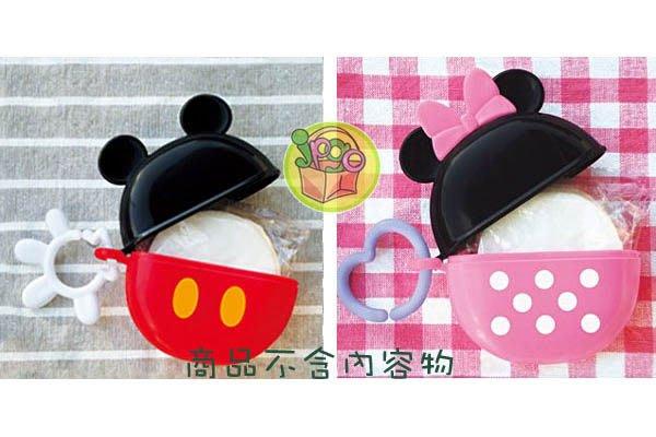 【JPGO】出清~日本製 迪士尼 圓形餅乾盒 零食盒 零食收納盒 附掛勾~米妮#518/米奇#818