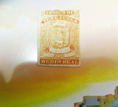 委內瑞拉 VENEZUELA 1861年 STAMP COAT of ARMS 1861