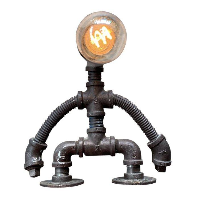 【曙muse】擺擺手機器人桌燈  水管桌燈  機器人  loft  工業風 咖啡廳 民宿 住家 檯燈 桌燈 交換禮物