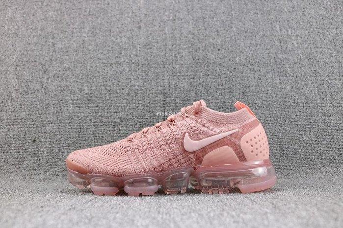 Nike Air VaporMax Flyknit 粉色 氣墊 經典 編織 休閒慢跑鞋 女鞋 942843-600