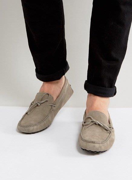 ◎美國代買◎ASOS綁帶鞋面方圓楦頭豆豆鞋底設計歐美雅痞風麂皮灰色休閒鞋~歐美街風~大尺碼~