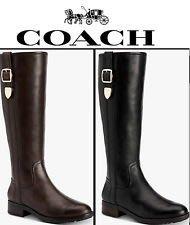 Coach真皮長靴正品 咖啡色真皮氣質 皮革柔軟 超舒服 超修飾腿型穿整天都舒服喔 (大特價5800)