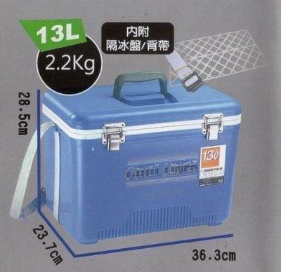 £加思桃£全新13L冰寶專業型釣魚冰箱 保冰箱桶 溪池釣露營烤肉 隨身小冰箱13公升