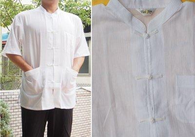 Tai Jin MIT 夏日烈陽最佳涼爽服飾 台灣製造工廠直營 汗衫 棉衫 白短袖唐裝
