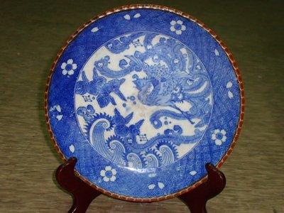 """典藏光復初期日本製作的青花""""鳳老磁盤""""~~高貴而有質感"""