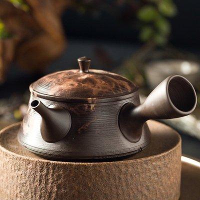 【蓮花堂】日本進口常滑燒手工紫砂壺泡茶壺側把名家原礦朱泥急須壺功夫茶具