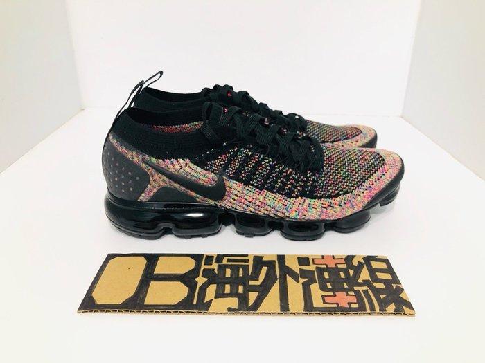 Nike Air VaporMax FK 2.0 女鞋 黑 無鞋帶 編織 彩虹 氣墊 休閒鞋 男女 942843-015