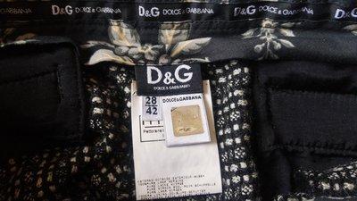【DOLCE&GABBANA】【D&G】黑底白點點毛呢短褲