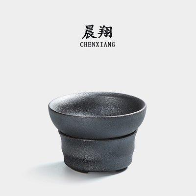 小花精品店-粗陶過濾組 功夫茶道配件陶...
