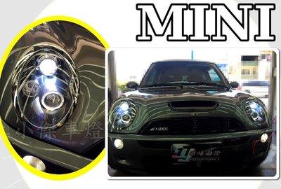 小傑車燈精品--全新 BMW MINI ONE COOPER S R53 R50 黑框 光圈 魚眼大燈