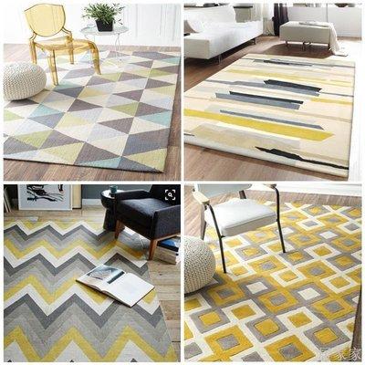 居家家 簡約幾何墊客廳歐式沙發大茶幾地毯現代臥室床邊抽象北歐地毯