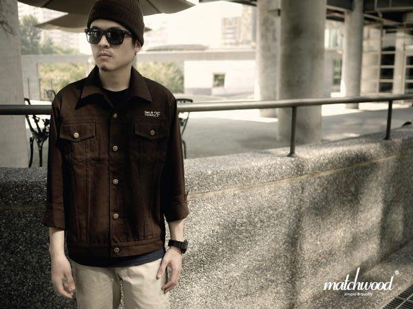【Matchwood直營】Matchwood Denim 丹寧牛仔襯衫 牛仔夾克外套 咖啡款 M號/L號 精選6折優惠