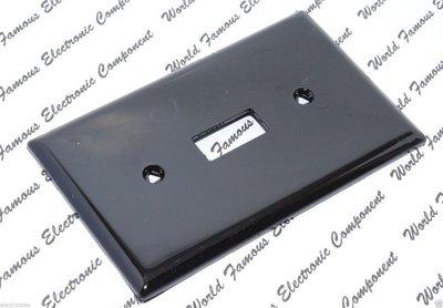 美國 COOPER 指撥式單開關蓋板&面板 5134BK 黑色 (Toggle型)(同HUBBELL NP1AL)
