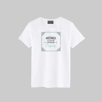 T365 MISTAKES PROOF TRYING T恤 男女可穿 多色同款可選 短T 素T 素踢 TEE 短袖 上衣